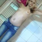 Jeans eingepullert