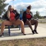 Geiler Public Outdoor Piss, von Priscilla und Rosella!
