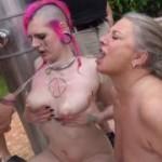 Versaute Pisse-Orgie mit einem Teeny und einer Milf! Teil1